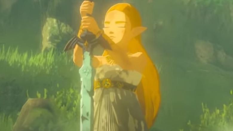 Zelda with Master Sword