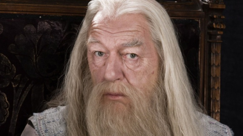 Albus Dumbledore without his hat and glasses