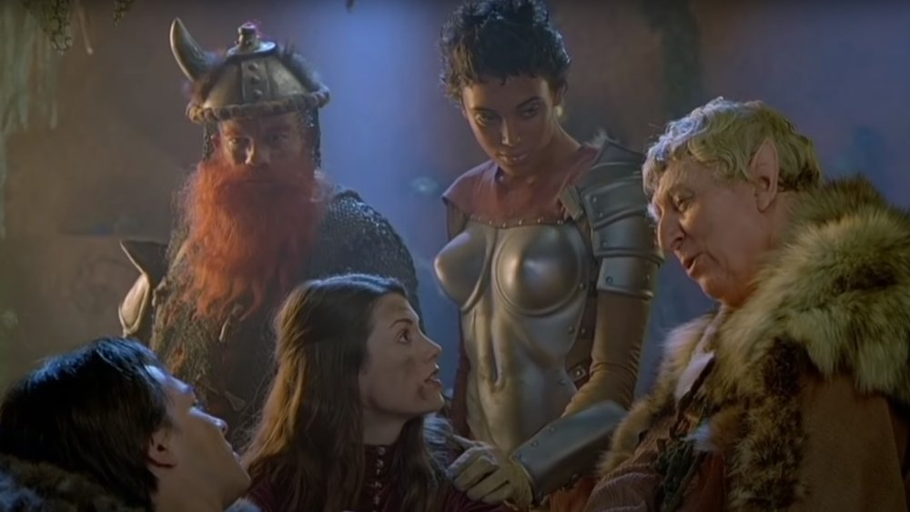 Justin Whalin, Tom Baker, Kristen Wilson, Zoe McKlellen, and Lee Arenberg in Dungeons & Dragons