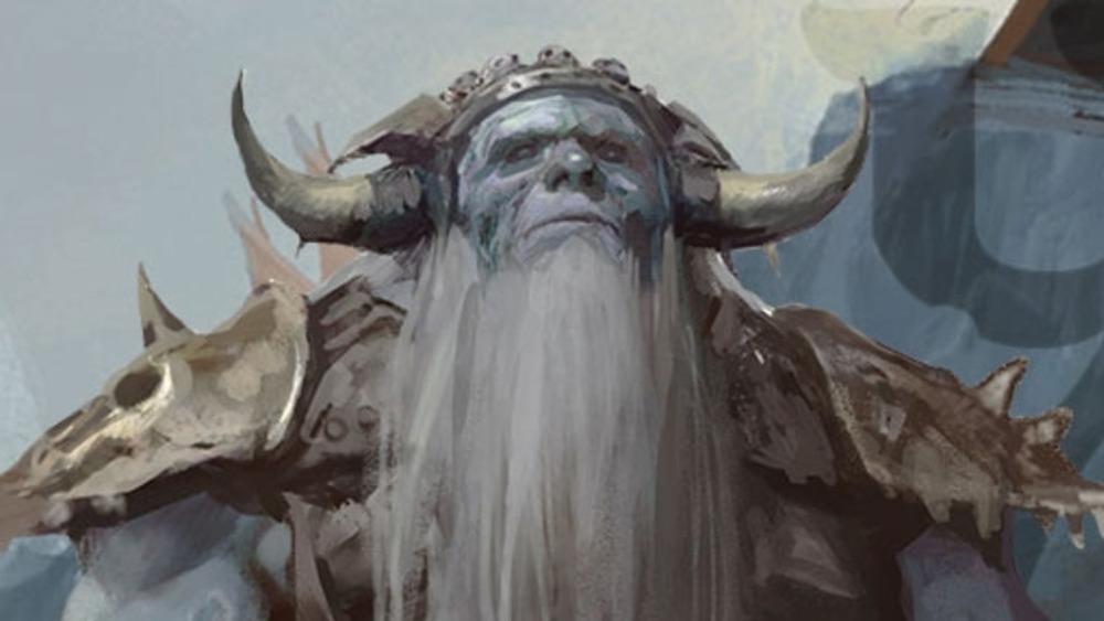 frost giant horned helmet