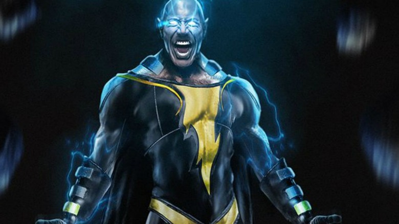 Fan art of Dwayne Johnson as Black Adam