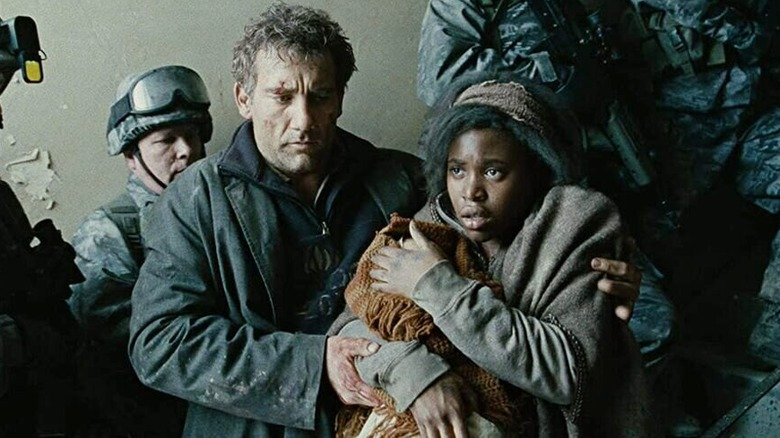 Clive Owen and Clare Hope-Ashitey in Children of Men