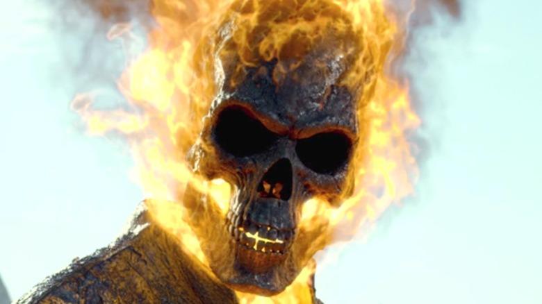 Ghost Rider flaming skull