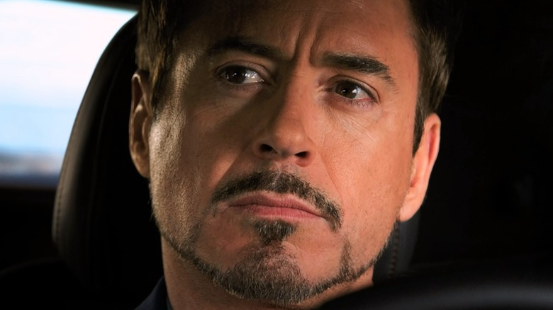 Robert Downey Jr. Tony Stark contemplating