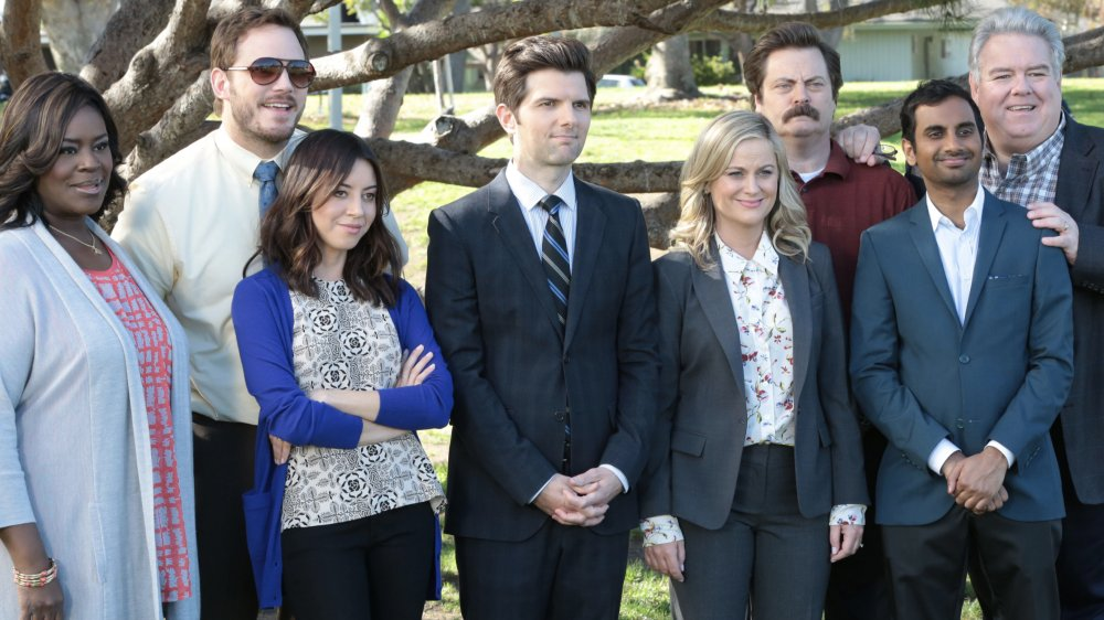 Parks and Recreation cast on the series finale