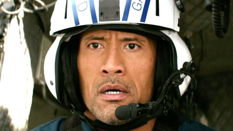 Dwayne Johnson San Andreas helicopter