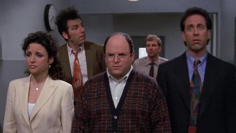 The Seinfeld crew dressed up nice