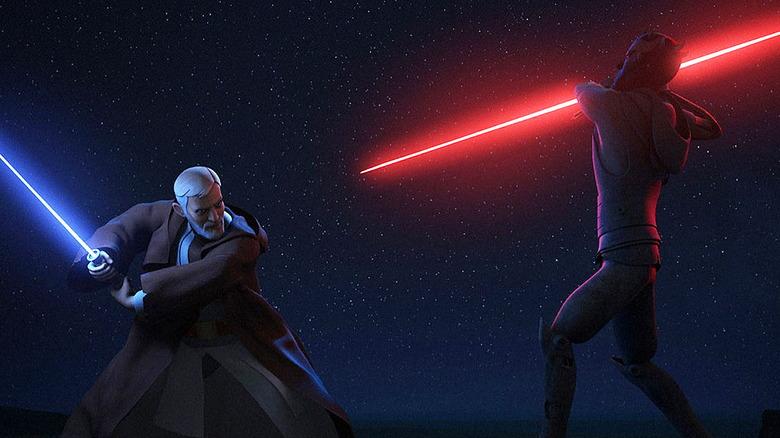 Obi-Wan Kenobi vs Darth Maul in Star Wars Rebels