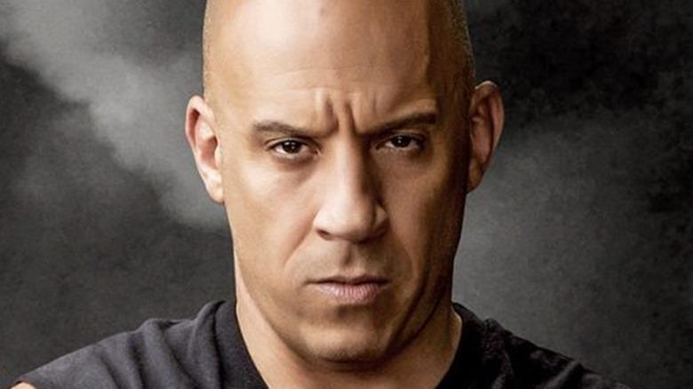 Dominic Toretto grimacing