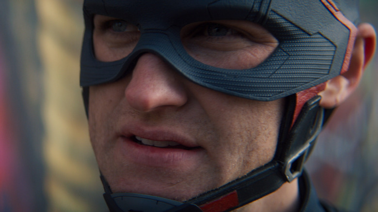 Close up of John Walker in Cap mask