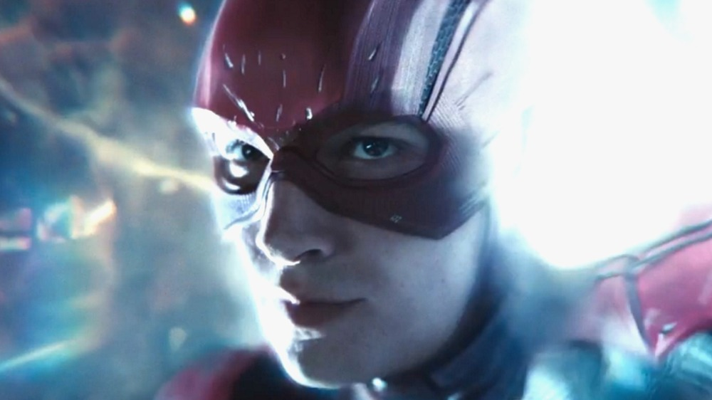 The Flash traveling through time