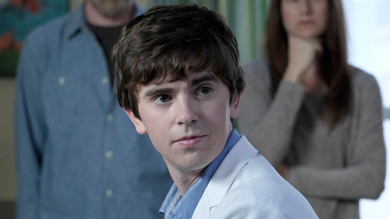 Freddie Highmore as Dr. Shaun Murhpy on The Good Doctor