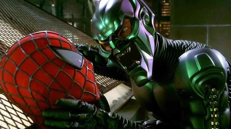 Green Goblin and Spider-Man fight scene