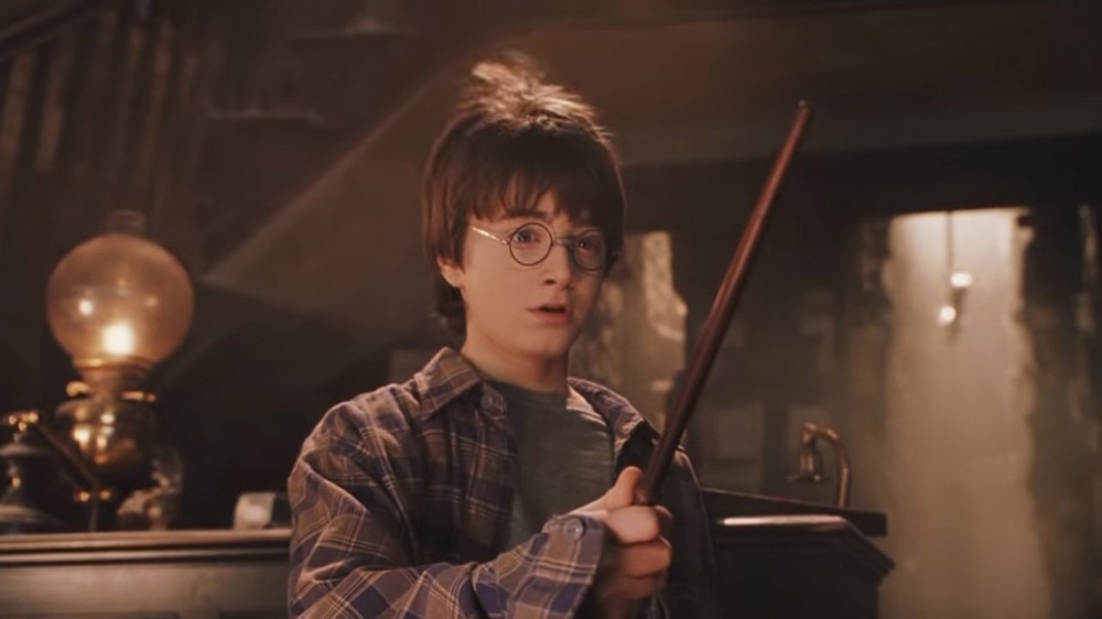 Harry Potter receives his wand