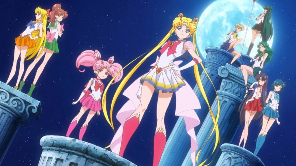 The Sailor Scouts on Sailor Moon