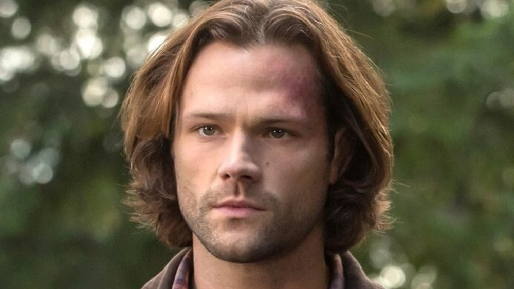 Sam Winchester with a bruised face