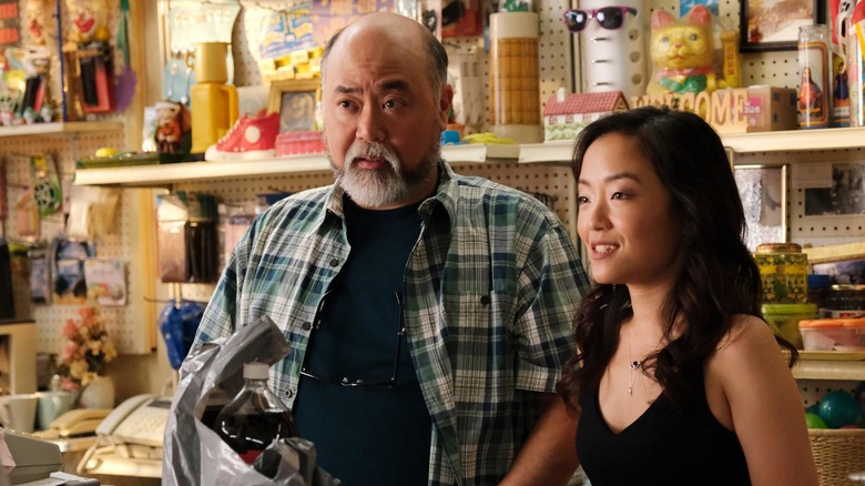 Paul Sun-Hyung Lee and Andrea Bang in the convenience store