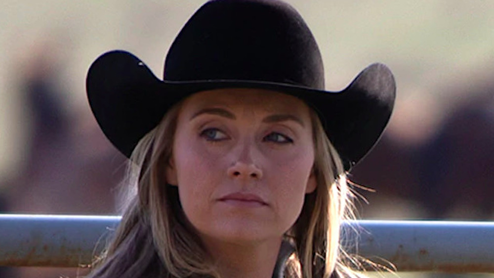 Amber Marshall in a cowboy hat