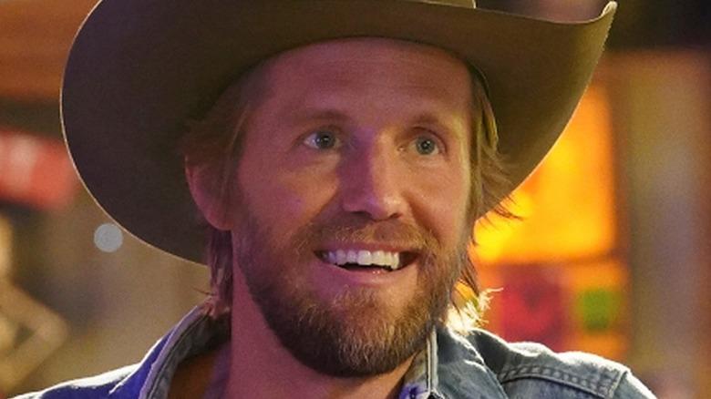 Matt Barr Hoyt Rawlins smiling cowboy hat