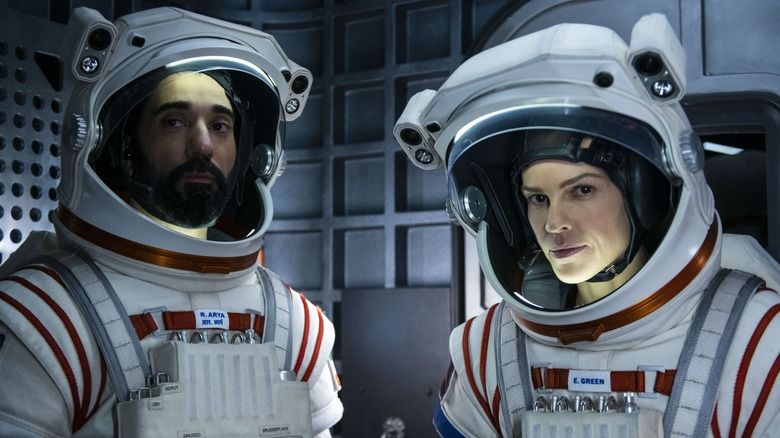 Ray Panthaki and Hilary Swank on Away