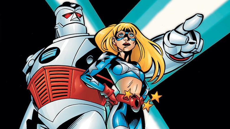 S.T.R.I.P.E. and Stargirl from DC Comics