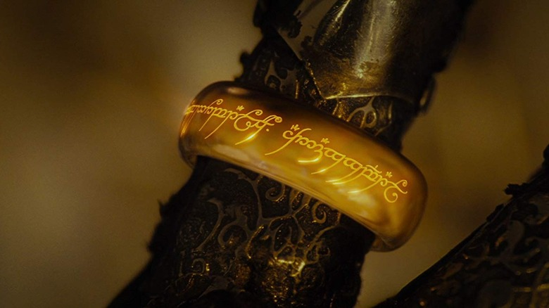 the ring on Sauron's finger