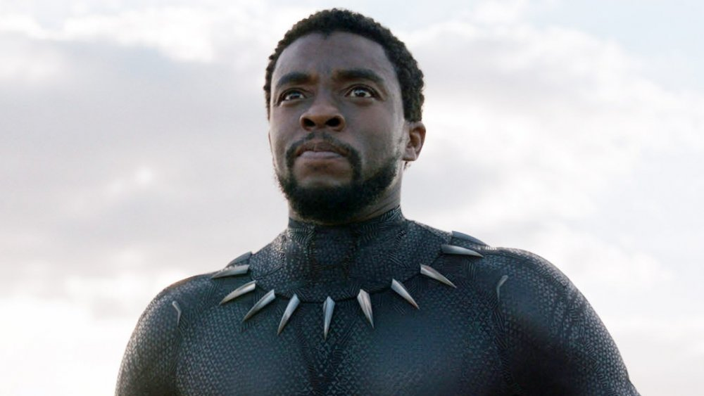 Chadwick Boseman as T'Challa in Black Panther