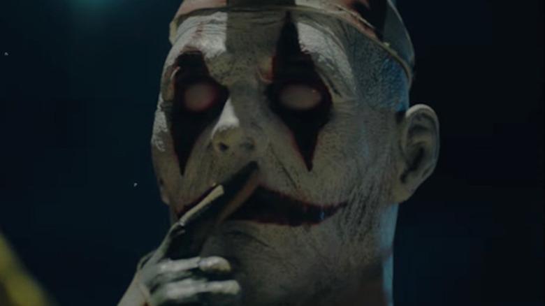 Evil clown in Hell Fest