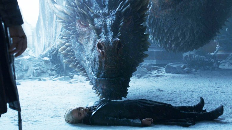 Drogon and Daenerys Targaryen Game of Thrones series finale