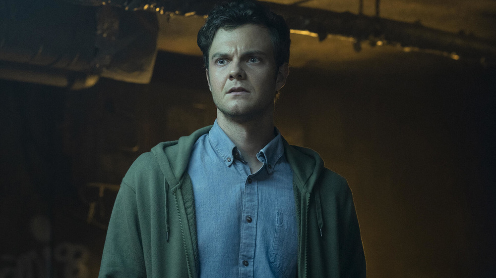 Jack Quaid looks shocked as Hughie Campbell in The Boys Season 2