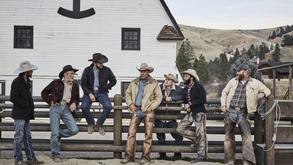 A still of some of the cast of Yellowstone