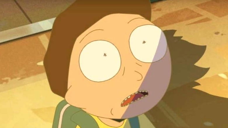 Morty Smith looking frightened