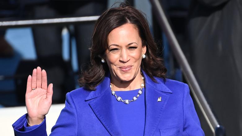 Kamala Harris swearing in at the 2021 inauguration