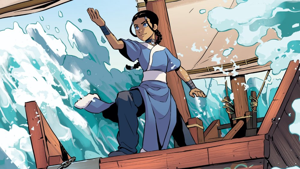 Comic art from Avatar: The Last Airbender - Katara and the Pirate's Silver by Faith Erin Hicks, Tim Hedrick, and Peter Wartman