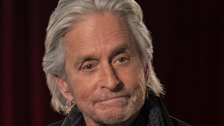 Michael Douglas pursing his lips