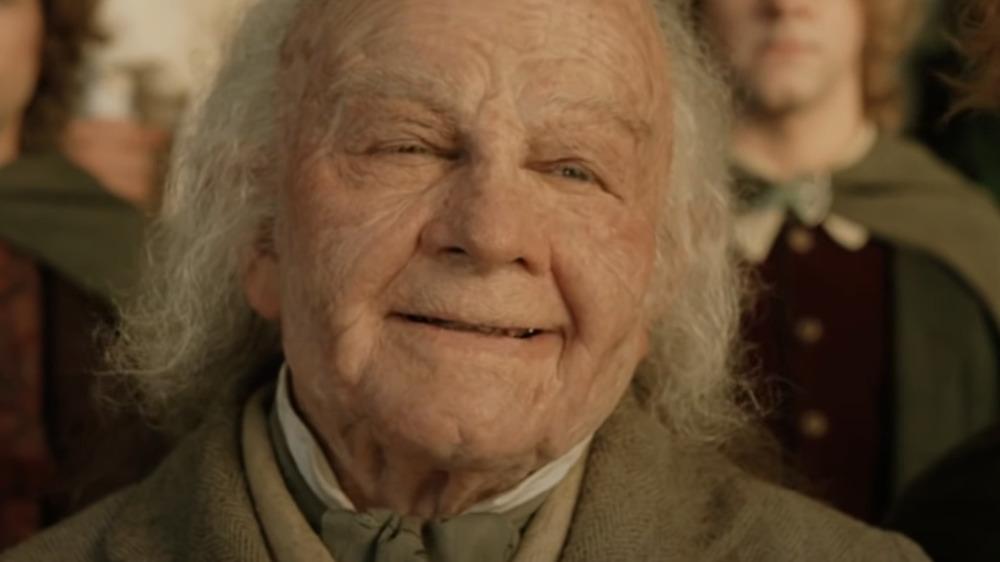 Bilbo arrives at the Grey Havens