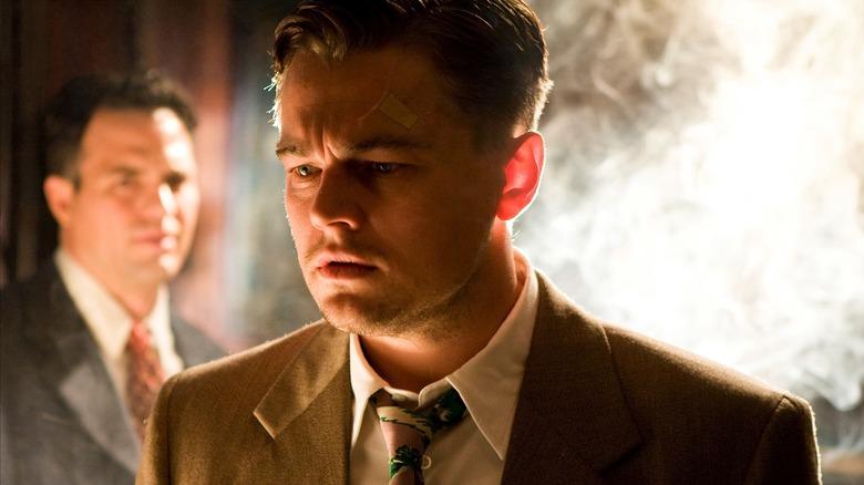 Leonardo DiCaprio stares in Shutter Island