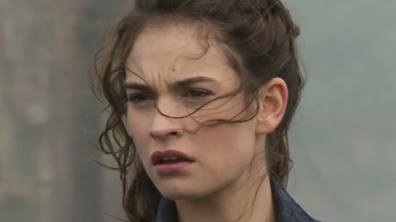 Lily James in a scene from Pride and Prejudice and Zombies
