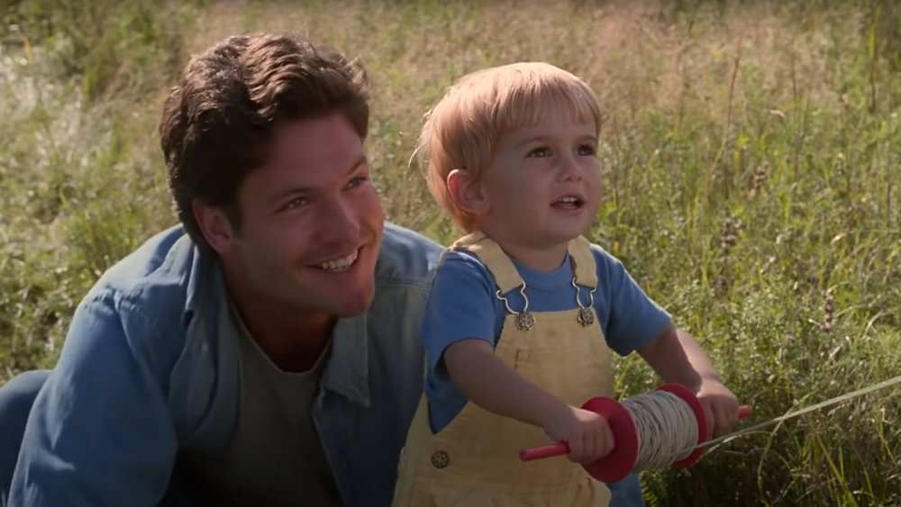 Dale Midkiff and Miko Hughes as seen in the film Pet Sematary