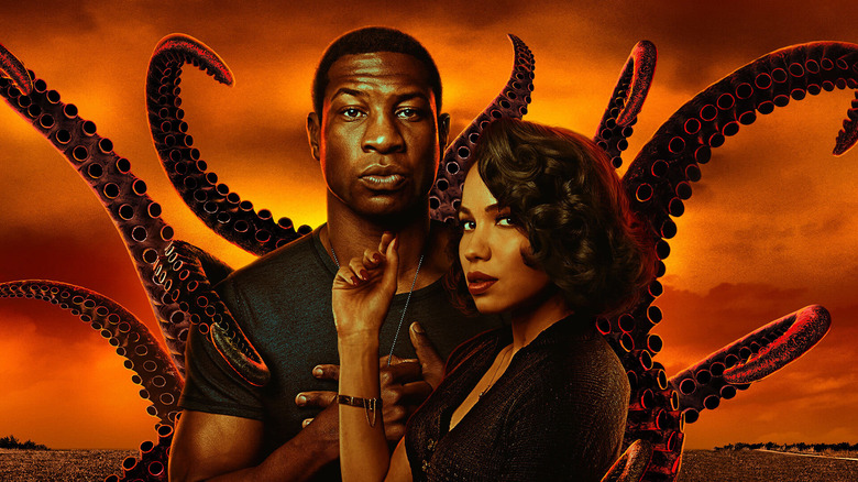 Jonathan Majors and Jurnee Smollett in Lovecraft Country poster