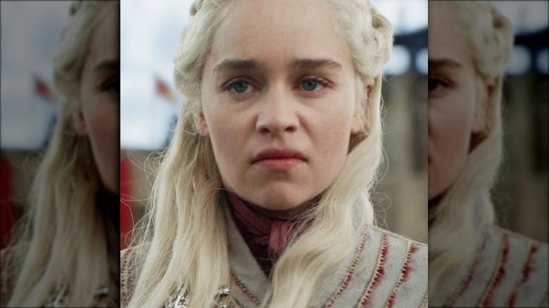 Emilia Clarke as Daenerys Targaryen on Game of Thrones season 8 episode 4 The Last of the Starks
