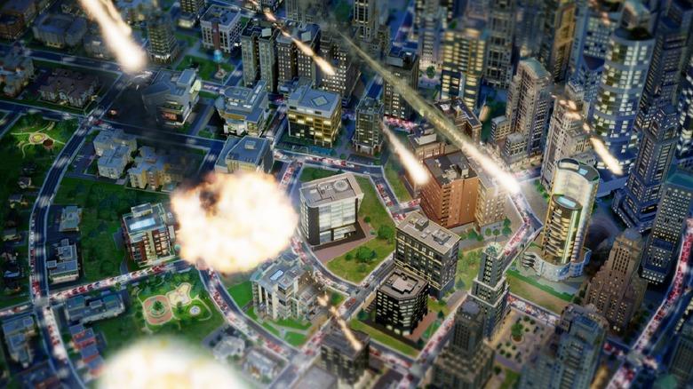 SimCity meteor strike