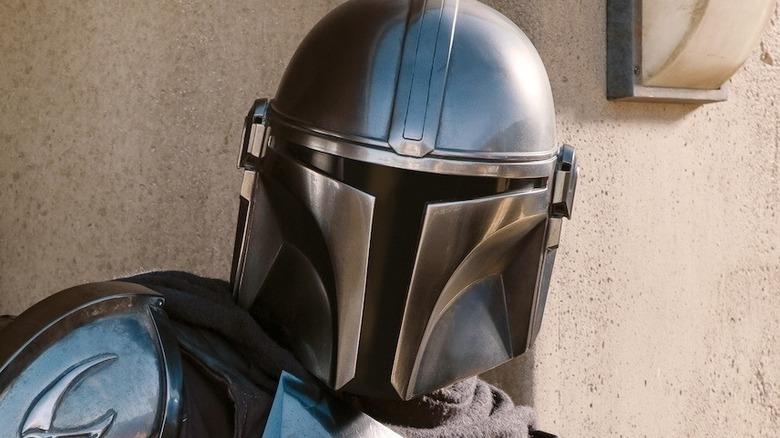 The Mandalorian helmet