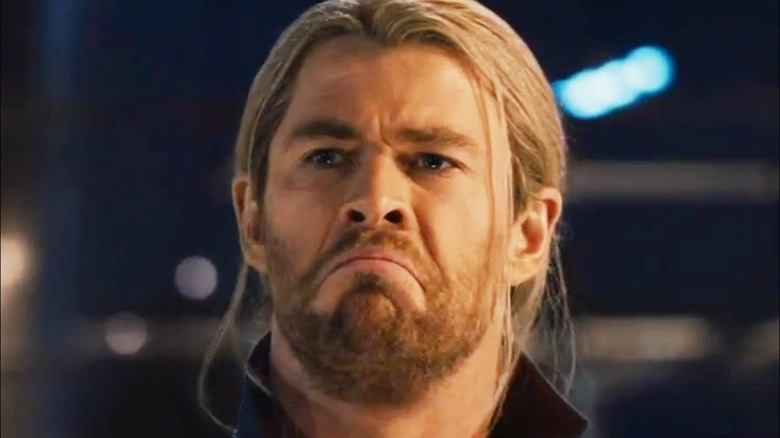 Chris Hemsworth funny face