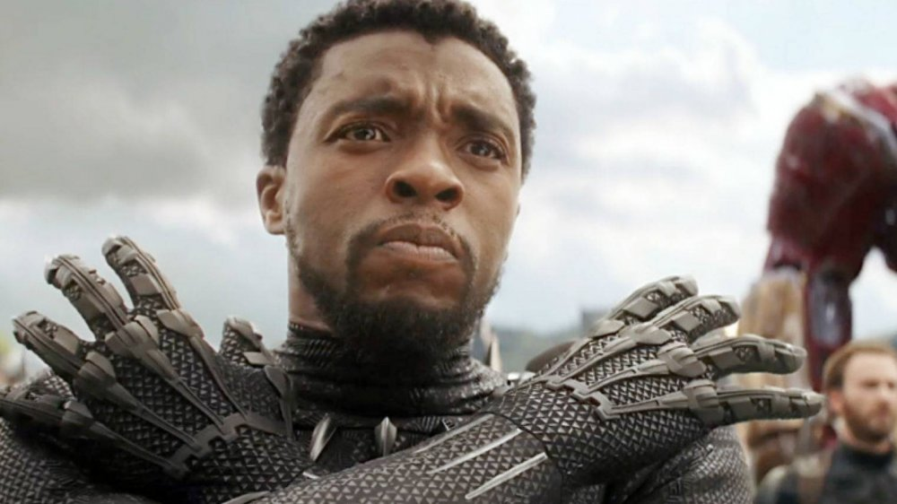Chadwick Boseman as Black Panther in Avengers Infinity War