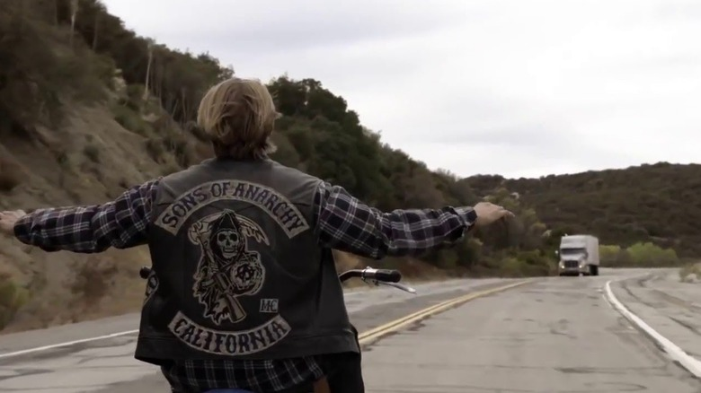 Charlie Hunnam as Jax Teller in FX's Sons of Anarchy