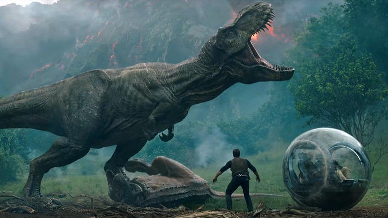 Scene from Jurassic World: Fallen Kingdom