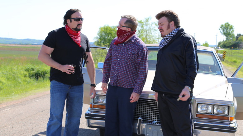 Julian, Bubbles, and Ricky on Trailer Park Boys