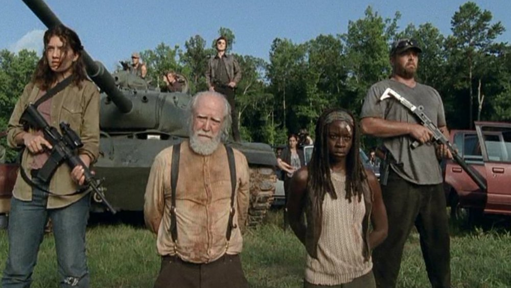 Danai Gurira, Norman Reedus, and other cast members on AMC's The Walking Dead