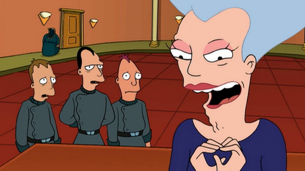 Mom and her sons on Futurama